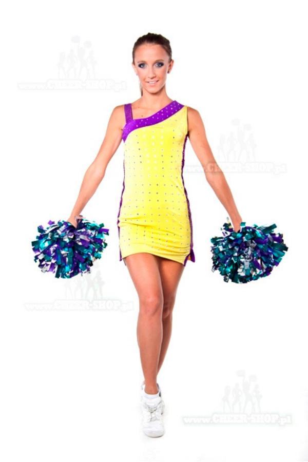 oryginalna sukienka na wystepy dla cheerleaderek i zespolow tanecznych