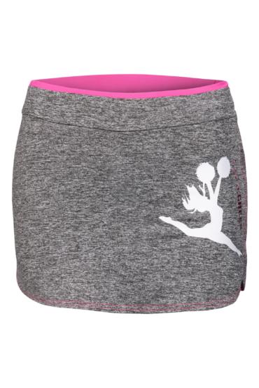 sportowa spódniczka treningowa z nadrukiem jump w kolorze różowym