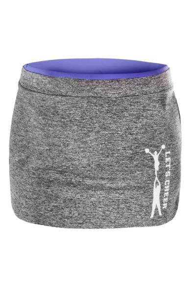 sportowa spódniczka treningowa z nadrukiem stunt w kolorze fioletowym