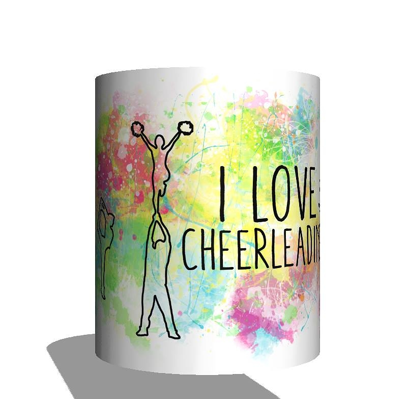 kolorowy kubek I love cheerleading