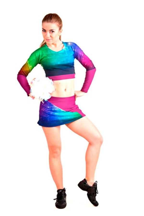 profesjonalny stroj dla cheerleaders z sublimacja