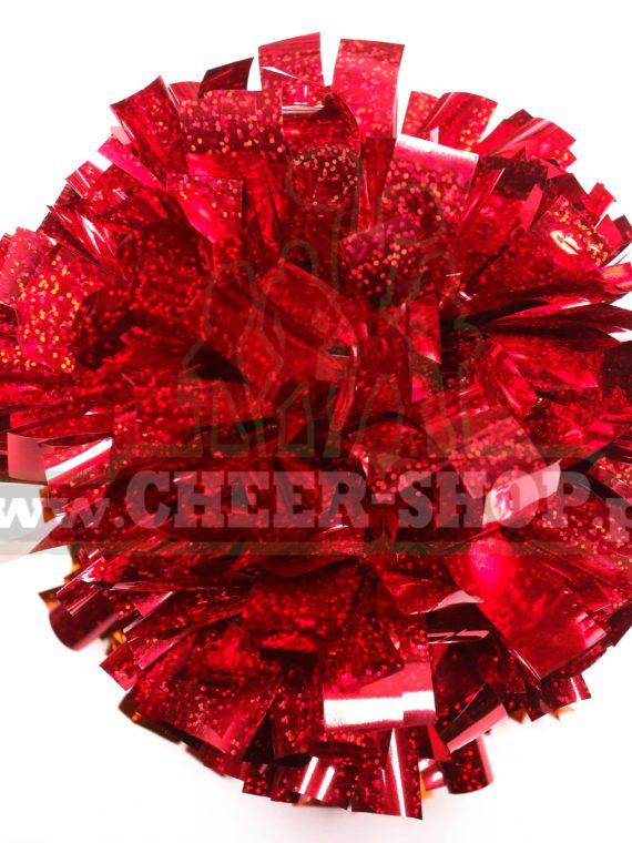 Pompon Holo czerwony red