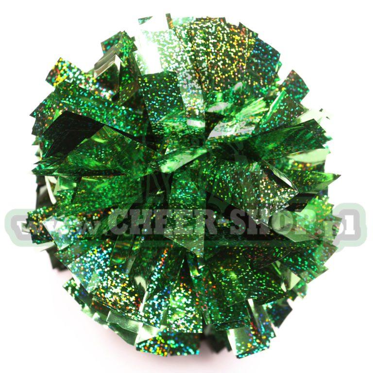 """Pompon """"Amerykański"""" Hologram – 8″, Jasny Zielony"""