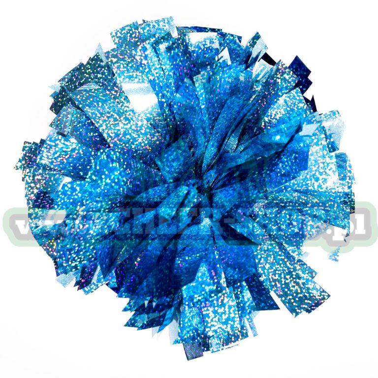 """Pompon """"Amerykański"""" Hologram – 10″, Jasny niebieski (sky blue)"""