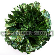 Pompon holo dark green zielony