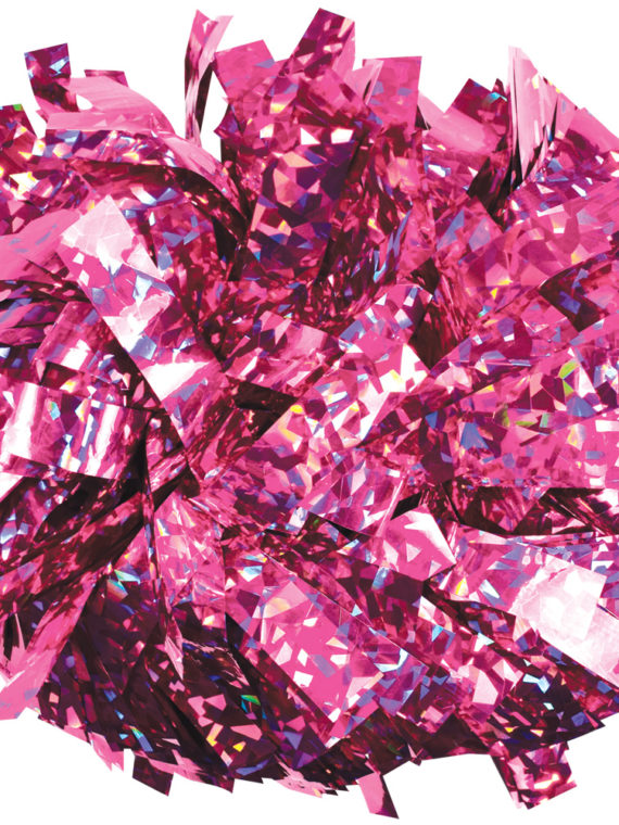 Pompon holo light pink różowy