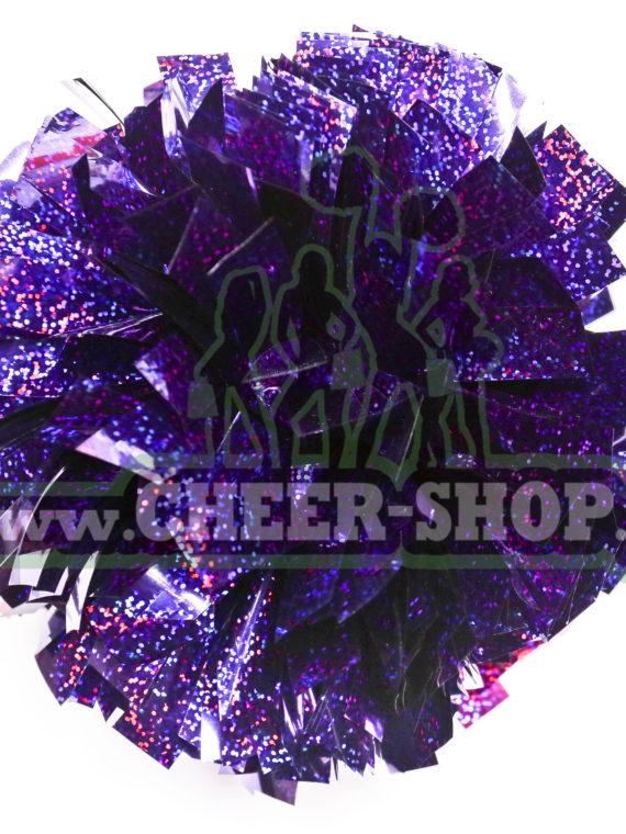 Pompon holo purple fioletowy