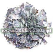 Pompon holo silver srebrny