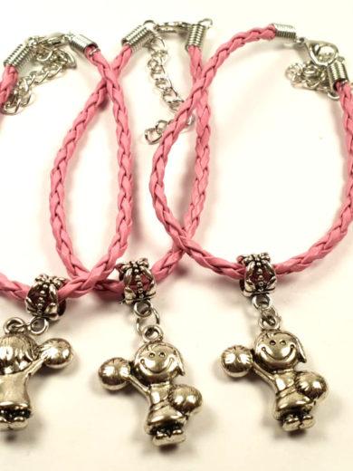 bransoletka dla cheerleaderek i mazoretek na sznurku