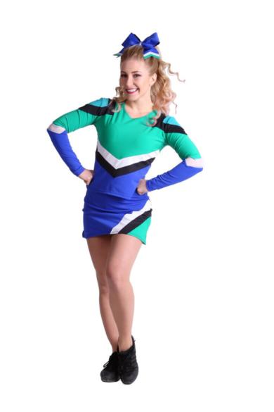Kolorowy strój dla cheerleaderki