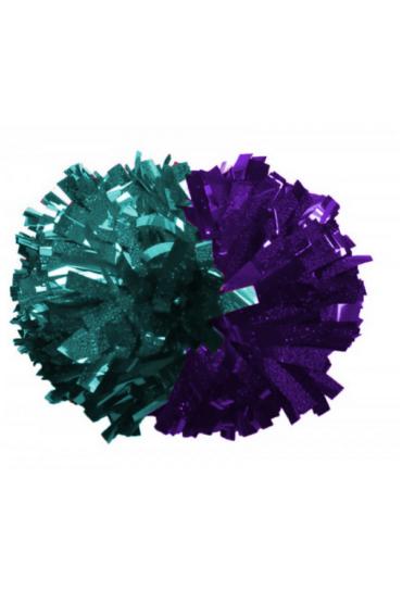 dwukolorowy pompon dla cheerleaders