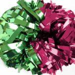 Wzór dwukolorowego pompona stworzonego specjalnie dla mażoretek i cheerleaderek