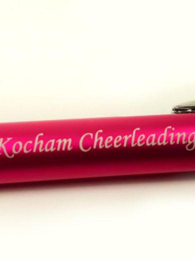różowy długopis z grawerem kocham cheerleading, prezent