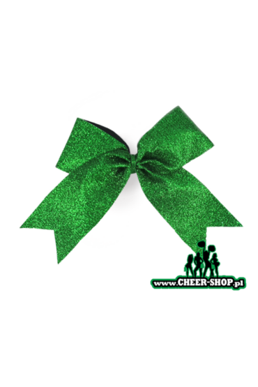 zielona kokarda dla cheerleaderek