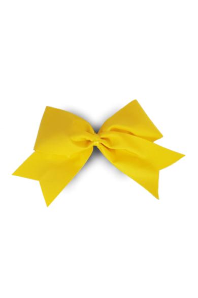 profesjonalna kokarda dla cheerleaders w kolorze żółtym